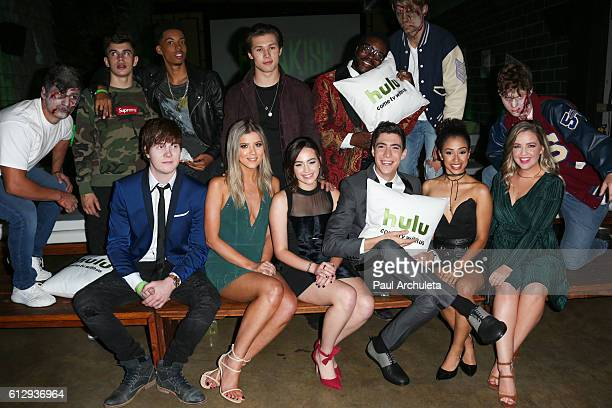 Actors Hayes Grier Melvin Gregg Leo Howard Chad L Coleman and Adam Hicks Meghan Rienks Mary Mouser Tyler Chase Liza Koshy and Aislinn Paul attend the...