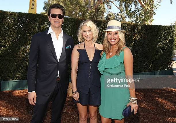 Actors Hayes MacArthur, Ali Larter, and Veuve Clicquot Director of Communications Christine Kaculis attend Veuve Clicquot Polo Classic Los Angeles at...