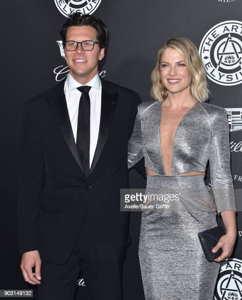 Actors Hayes MacArthur and Ali Larter arrive at The Art of Elysium's 11th Annual Celebration Heaven at Barker Hangar on January 6 2018 in Santa...