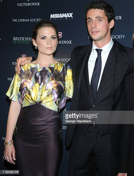 Actors Hayley Atwell and Matthew Goode attend a screening of 'Brideshead Revisited' hosted by The Cinema Society and Victorinox Swiss Army at the AMC...