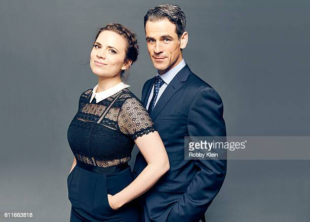 Actors Hayley Atwell Eddie Cahill from the show 'Notorious' are photographed for The Wrap on August 5 2016 in Beverly Hills California