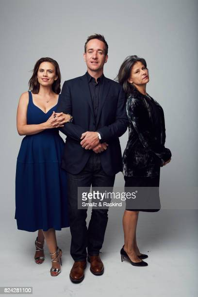 Actors Hayley Atwell Matthew Macfadyen and Tracey Ullman of Starz's 'Howards End' pose for a portrait during the 2017 Summer Television Critics...