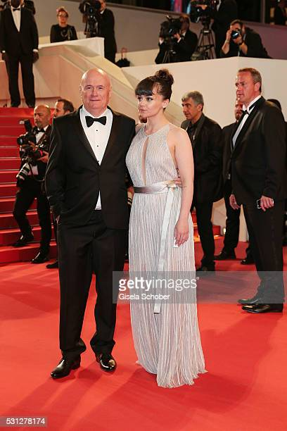 Actors Hayley Squires and Dave Johns attend the 'I Daniel Blake ' premiere during the 69th annual Cannes Film Festival at the Palais des Festivals on...