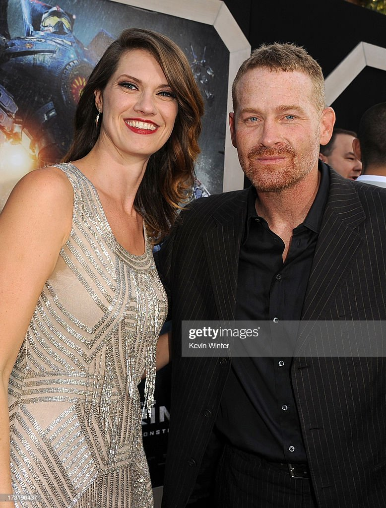 Actors Heather Doerksen and Max Martini arrive at the premiere of Warner Bros. Pictures' and Legendary Pictures' 'Pacific Rim' at Dolby Theatre on July 9, 2013 in Hollywood, California.