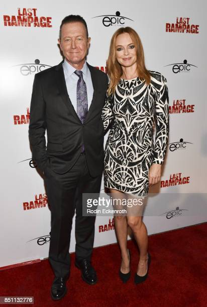 "Actors Heather Graham and Robert Patrick attend the premiere of Epic Pictures Releasings' ""Last Rampage"" at ArcLight Cinemas on September 21, 2017 in..."