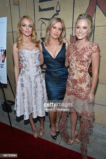 Actors Heather Graham Kim Dickens and Maika Monroe attend the premiere of Sony Pictures Classics' At Any Price at the Egyptian Theatre on April 16...