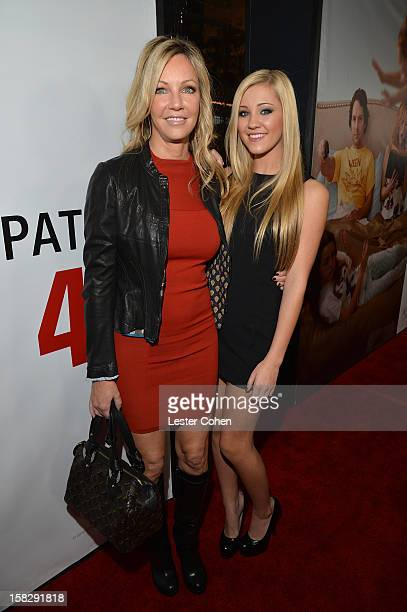 Actors Heather Locklear and Ava Sambora attends This Is 40 Los Angeles Premiere Red Carpet at Grauman's Chinese Theatre on December 12 2012 in...