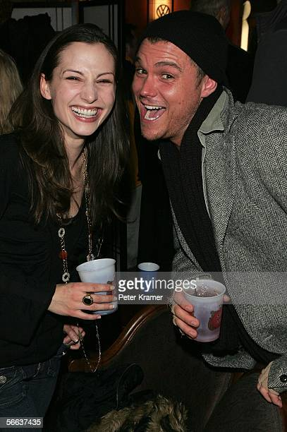 Actors Heather McComb and Clayne Crawford attend the premiere party for 'Steel City' at the Volkswagen Lounge during the 2006 Sundance Film Festival...