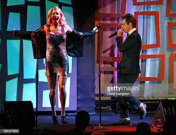 Actors Heather Morris and Kevin McHale perform on stage at the Annual STARS 2010 Benefit Gala at the Beverly Hilton Hotel on November 1 2010 in...