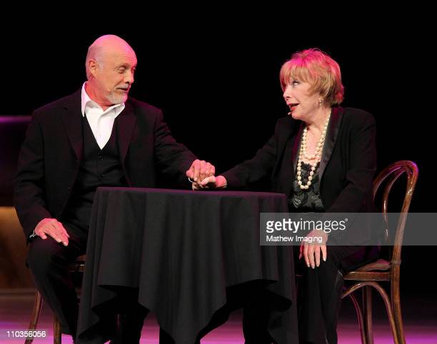 COVERAGE*** Actors Hector Elizondo and Shirley MacLaine perform at the 5th Annual 'A Fine Romance' at 20th Century Fox on May 1 2010 in Los Angeles...