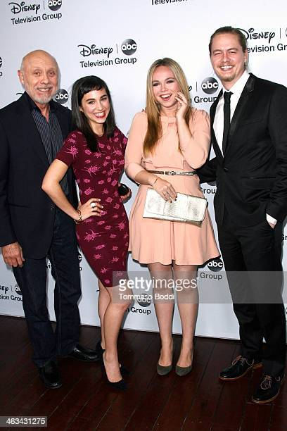 Actors Hector Elizondo Molly Ephraim Amanda Fuller and Christoph Sanders attend the Disney ABC Television Group's 2014 winter TCA party held at The...