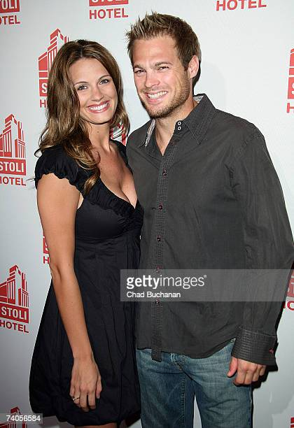 Actors Heidi Androl and George Stults attend the grand opening of the Stoli Hotel Spa Lounge on May 2 2007 in Los Angeles California