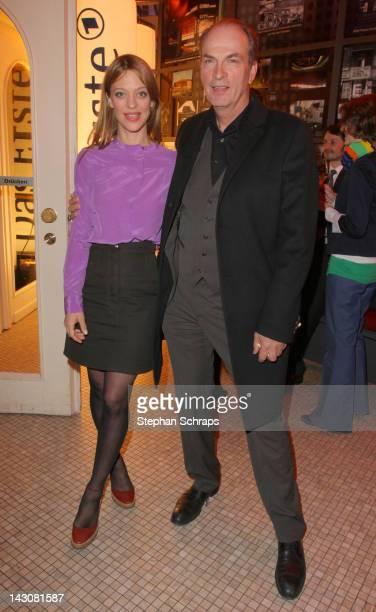 Actors Heike Makatsch and Herbert Knaup attend the premiere of 'Die Heimkehr' at Astor Film Lounge movie theater Kurfuerstendamm on April 18 2012 in...
