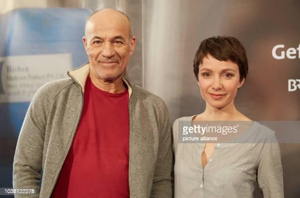 Actors Heiner Lauterbach and Julia Koschitz present new television film Nachtschatten during a press conference for German televion network ARD in...
