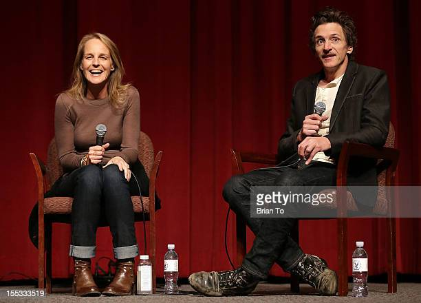 Actors Helen Hunt and John Hawkes attend SAGAFTRA special screening of 'The Sessions' at Pacific Design Center on November 2 2012 in West Hollywood...