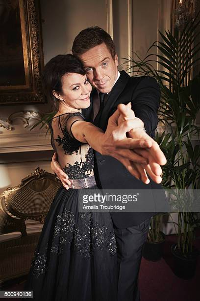 Actors Helen McCrory and Damian Lewis are photographed for ES magazine on September 8 2014 in London England