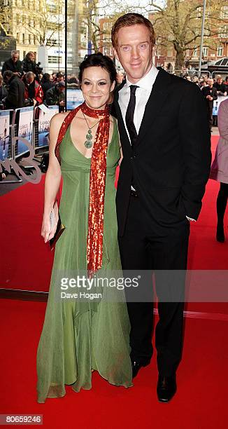 Actors Helen McCrory and Damien Lewis arrive at the UK premiere of 'Flashbacks of a Fool' at the Empire cinema Leicester Square on April 13 2008 in...