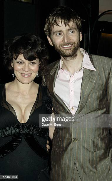 Actors Helen McCrory and David Tennant attend the Royal Court Theatre's 50th anniversary party at Titanic on April 26 2006 in London England
