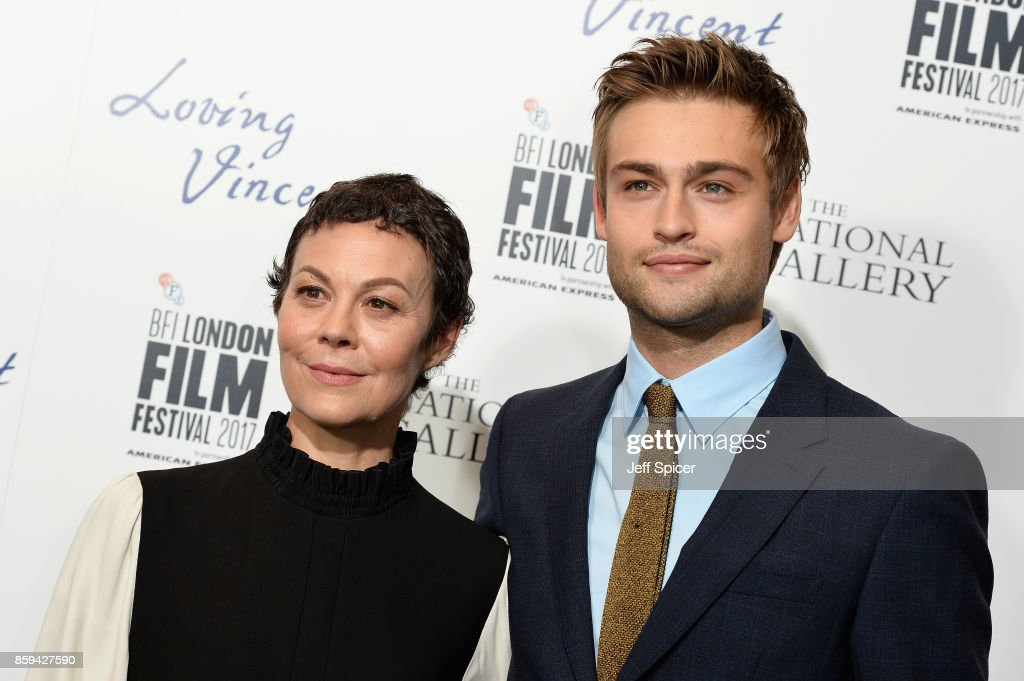 Actors Helen McCrory and Douglas Booth attend the UK Premiere of 'Loving Vincent' during the 61st BFI London Film Festival on October 9, 2017 in London, England.