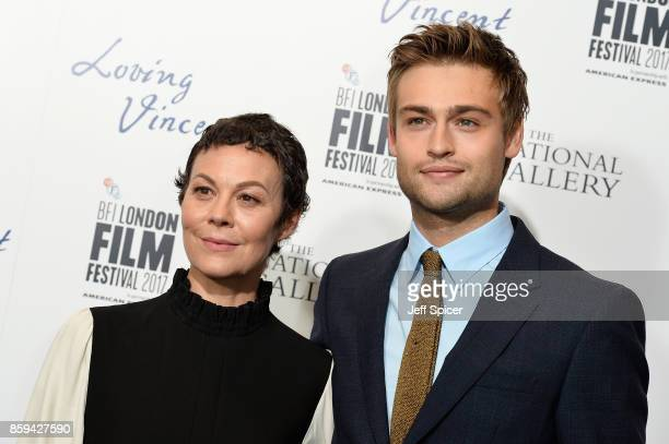 Actors Helen McCrory and Douglas Booth attend the UK Premiere of 'Loving Vincent' during the 61st BFI London Film Festival on October 9 2017 in...