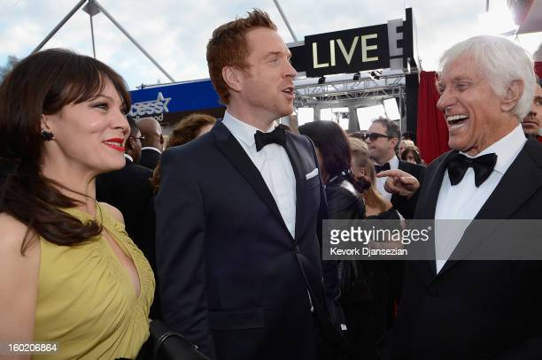 Actors Helen McCrory Damian Lewis and Dick Van Dyke arrive at the 19th Annual Screen Actors Guild Awards held at The Shrine Auditorium on January 27...