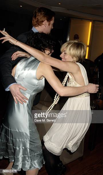 Actors Helen McCrory Damian Lewis and Sienna Miller attend the UK Premiere of 'Casanova' at Vue West End on February 13 2006 in London England