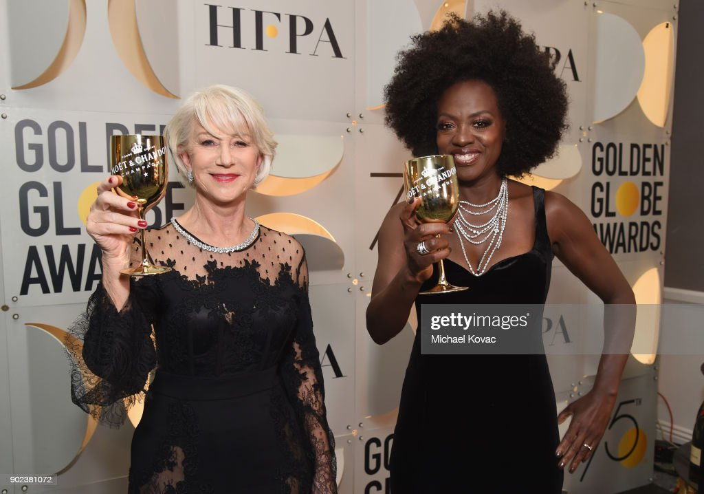 CA: Moet & Chandon At The 75th Annual Golden Globe Awards - Backstage