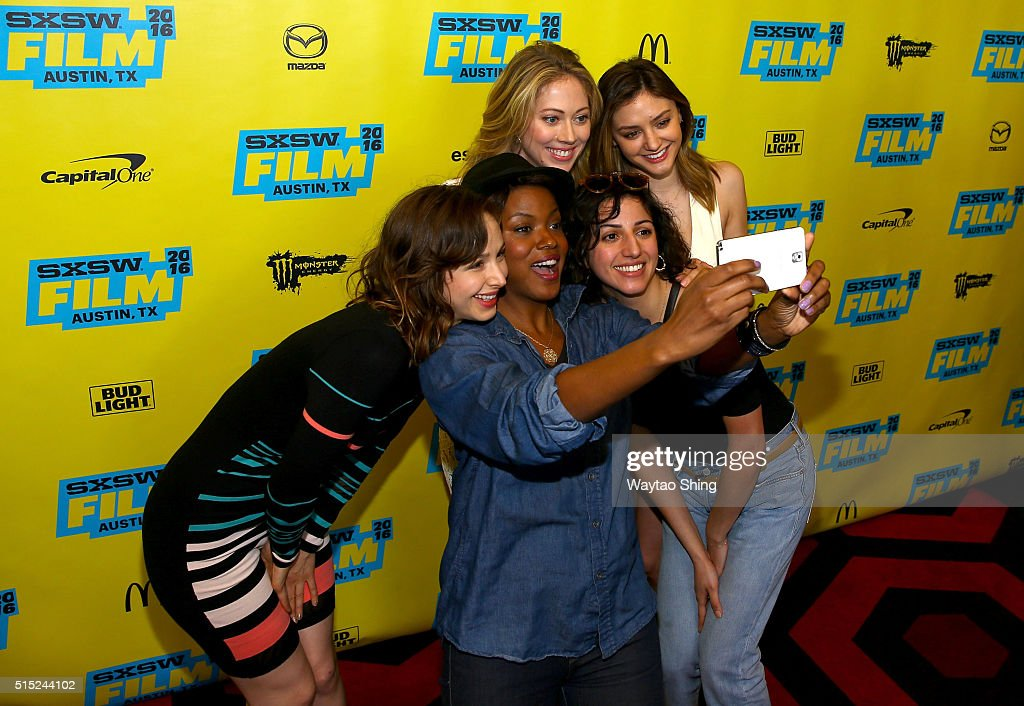 Actors Helen Rogers, Cassandra Freeman, Paten Hughes, Layla Khoshnoudi and Christine Evangelista attend the premiere of 'Long Nights Short Mornings' during the 2016 SXSW Music, Film + Interactive Festival at Alamo Lamar A on March 12, 2016 in Austin, Texas.