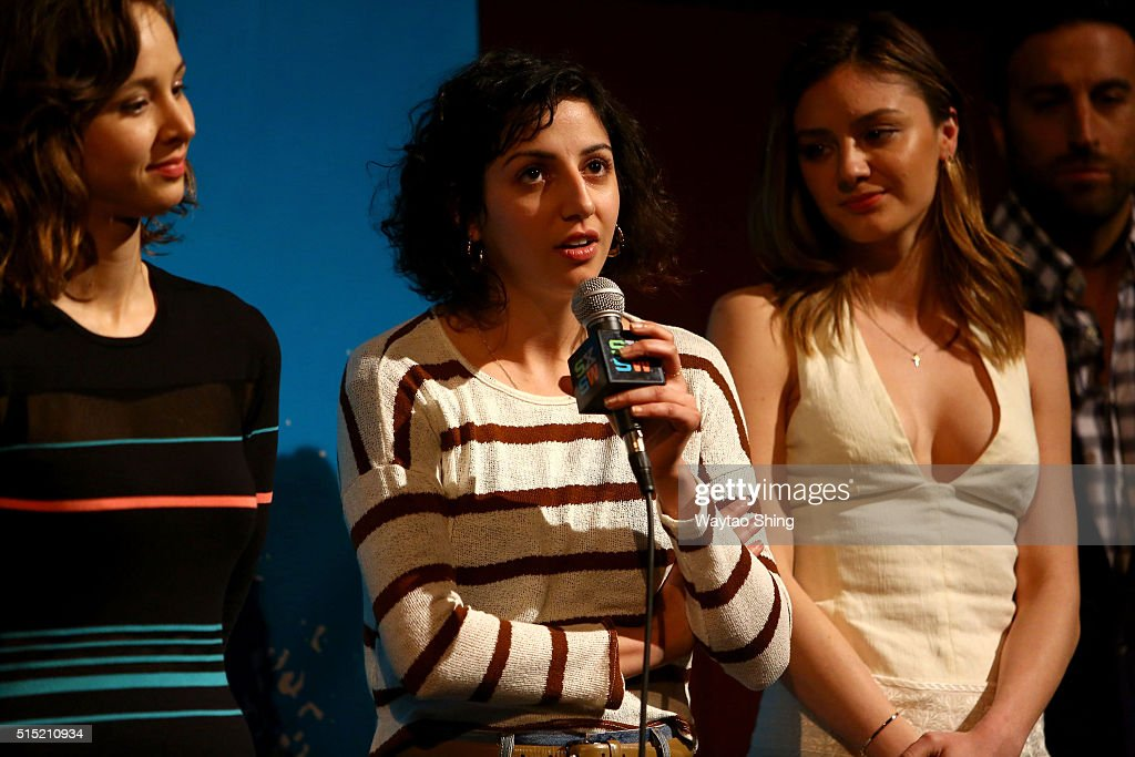 Actors Helen Rogers, Layla Khoshnoudi, and Christine Evangelista speak onstage during the premiere of 'Long Nights Short Mornings' during the 2016 SXSW Music, Film + Interactive Festival at Alamo Lamar A on March 12, 2016 in Austin, Texas.