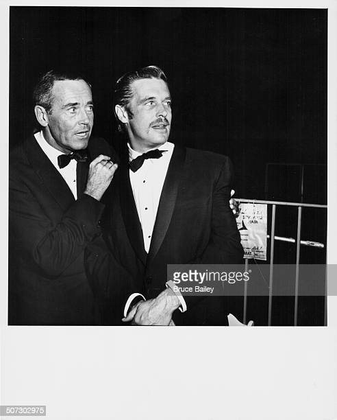 Actors Henry Fonda and George Peppard atending the premier of the movie 'Breakfast at Tiffany's' at Gruman's Chinese Theatre Hollywood CA October...