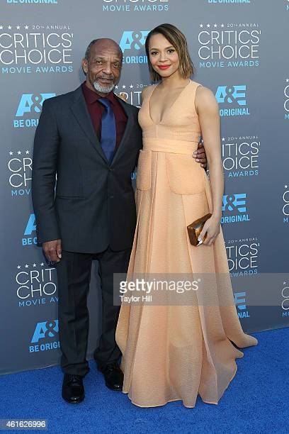 Actors Henry G Sanders and Carmen Ejogo attend the 20th annual Critics' Choice Movie Awards at the Hollywood Palladium on January 15 2015 in Los...