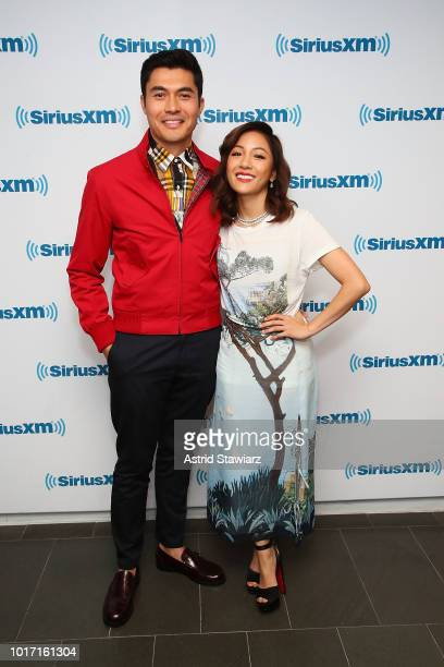 Actors Henry Golding and Constance Wu attend SiriusXM's Entertainment Weekly Radio Spotlight With The Cast Of 'Crazy Rich Asians' on August 15 2018...
