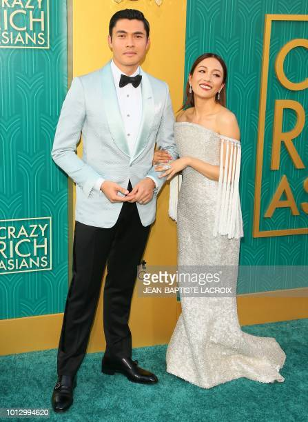 Actors Henry Golding and Constance Wu attend the premiere of Warner Bros Pictures' 'Crazy Rich Asians' in Hollywood California on August 7 2018