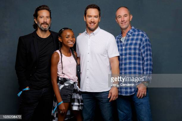 Actors Henry Ian Cusick Saniyya Sidney MarkPaul Gosselaar and Jamie McShane from 'The Passage' are photographed for Los Angeles Times on July 20 2018...