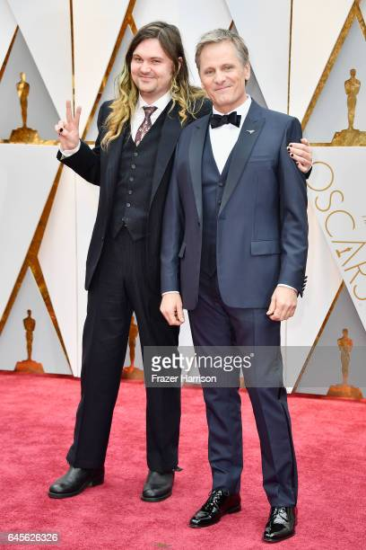 Actors Henry Mortensen and Viggo Mortensen attend the 89th Annual Academy Awards at Hollywood Highland Center on February 26 2017 in Hollywood...