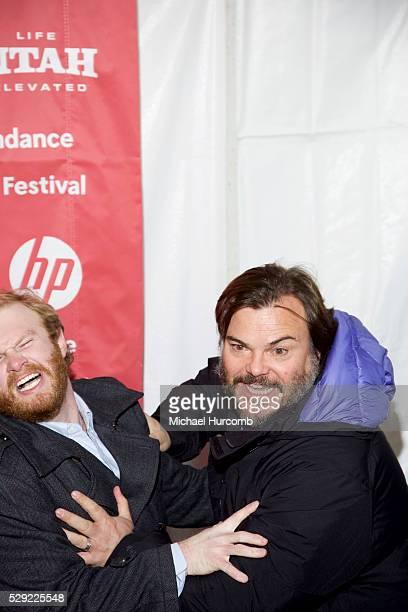 "Actors Henry Zebrowski and Jack Black, attend ""The D Train"" premiere at the 2015 Sundance Film Festival"