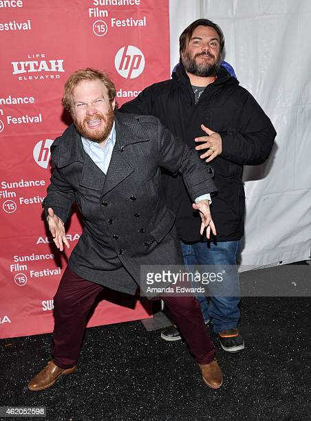 Actors Henry Zebrowski and Jack Black attend The D Train premiere during the 2015 Sundance Film Festival on January 23 2015 in Park City Utah