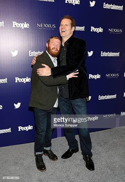 Actors Henry Zebrowski and Jack Coleman attend New York UpFronts Party Hosted By People and Entertainment Weekly at The Highline Hotel on May 11 2015...