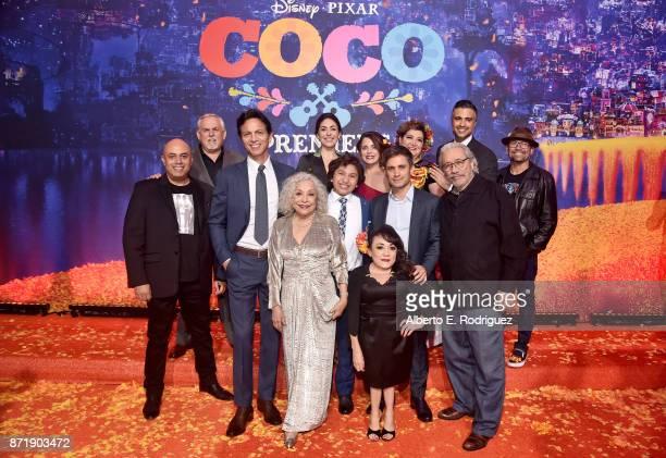 Actors Herbert Siguenza, John Ratzenberger, Benjamin Bratt, Renee Victor, Natalia Cordova-Buckley, Anthony Gonzalez, Alanna Ubach, Gael Garcia...
