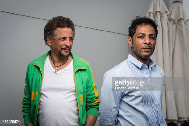 Actors Hichem Yacoubi and Abel Jafri are photographed in Cannes France