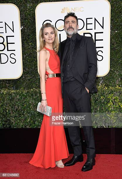 Actors Hilarie Burton and Jeffrey Dean Morgan attend the 74th Annual Golden Globe Awards at The Beverly Hilton Hotel on January 8, 2017 in Beverly...