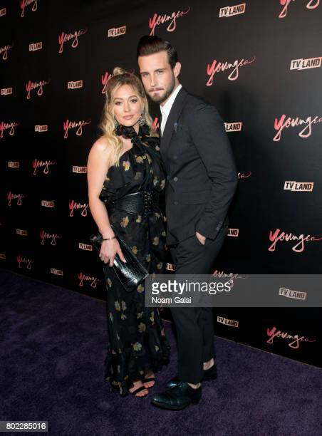 Actors Hilary Duff and Nico Tortorella attend the 'Younger' season four premiere party on June 27 2017 in New York City