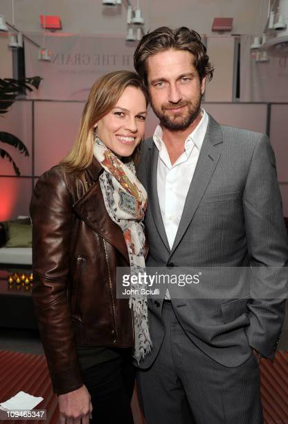 Actors Hilary Swank and Gerard Butler with LG at the 2011 Film Independent Spirit Awards Voter Party at Santa Monica Place on February 26 2011 in...