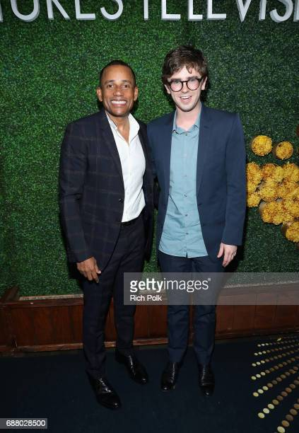 Actors Hill Harper and Freddie Highmore attend the Sony Pictures Television LA Screenings Party at Catch LA on May 24 2017 in Los Angeles California