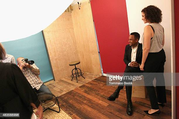 Actors Hill Harper and Mary Elizabeth Mastrantonio of CBS's 'Limitless' attend Behind The Scenes Of The Getty Images Portrait Studio Powered By...