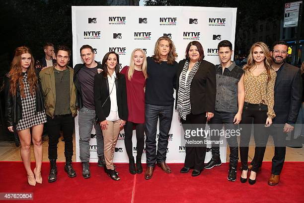 Actors Holland Roden and Dylan Sprayberry Executive Producers Jeff Davis and Emily Whitesell actors Anna Jacoby Heron and Alex Saxon MTV's Head of...