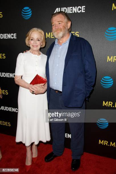 Actors Holland Taylor and Brendan Gleeson attend the Screening Of ATT Audience Network's 'Mr Mercedes' at The Beverly Hilton Hotel on July 25 2017 in...