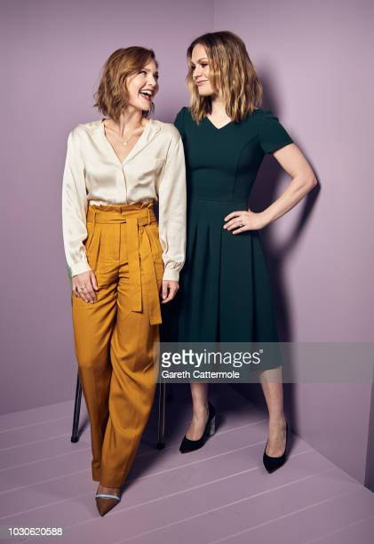 Actors Holliday Grainger and Anna Paquin from the film 'Tell It to the Bees' pose for a portrait during the 2018 Toronto International Film Festival...