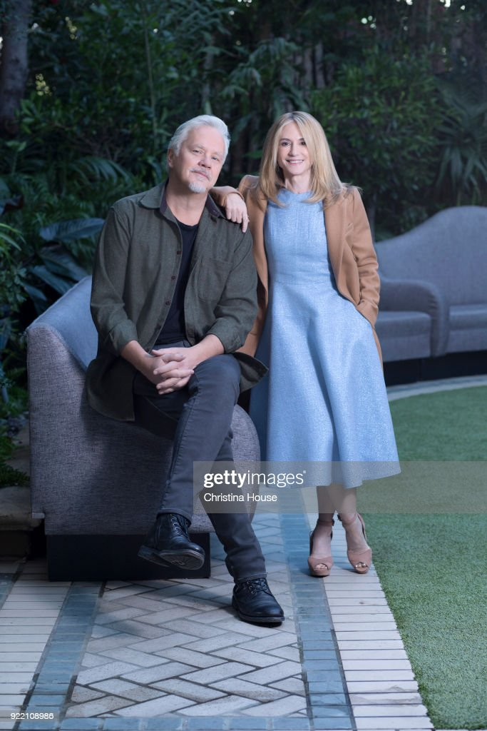 Holly Hunter and Tim Robbins, Los Angeles Times, February 12, 2018 : News Photo