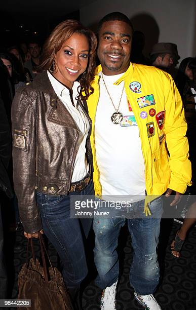 Actors Holly Robinson Peete and Tracy Morgan attend the 'Death At A Funeral' Los Angeles Premiere at Pacific's Cinerama Dome on April 12 2010 in...